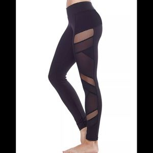 Electric Yoga Mesh Panel Sexy Legging Large NWOT